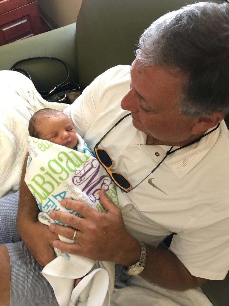 Glen holding Abby